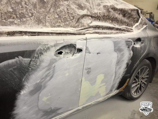 Сложный кузовной ремонт лексус 92