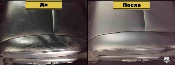 Замена кожи на сиденьях 11