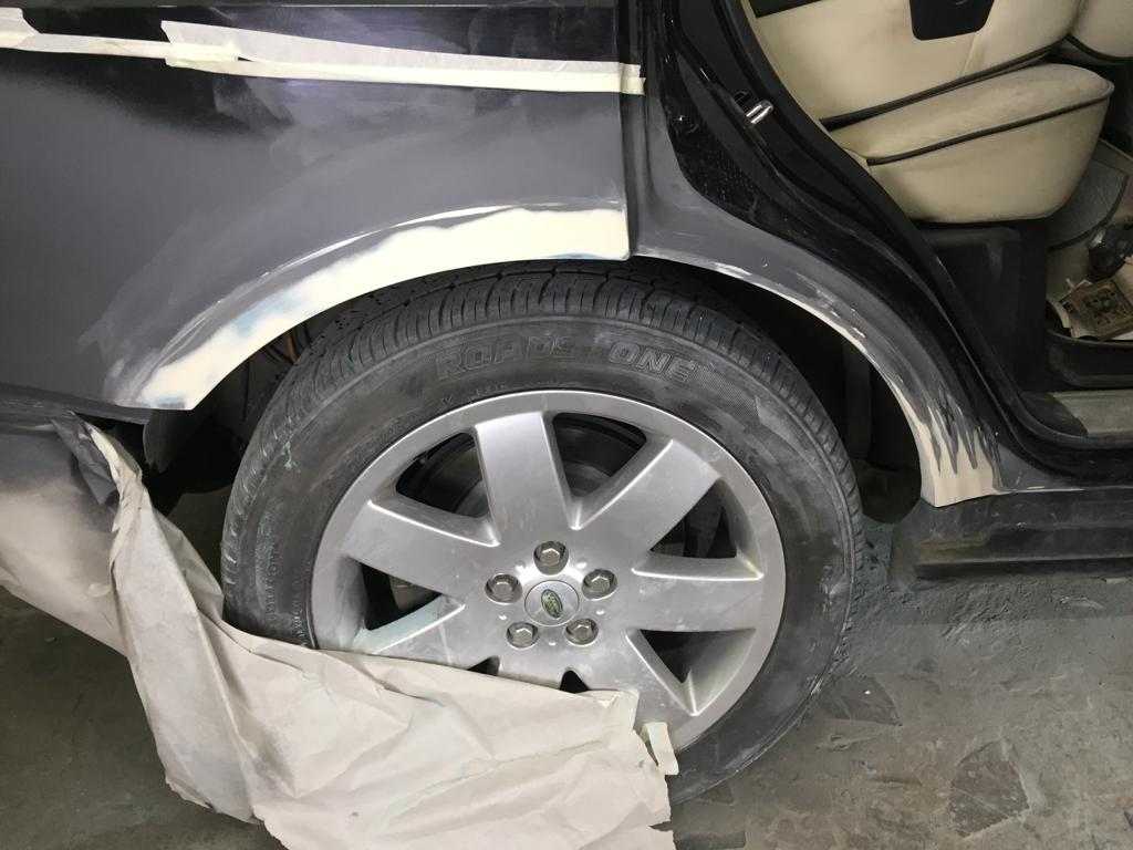 ремонт арок Range Rover Vogue 77