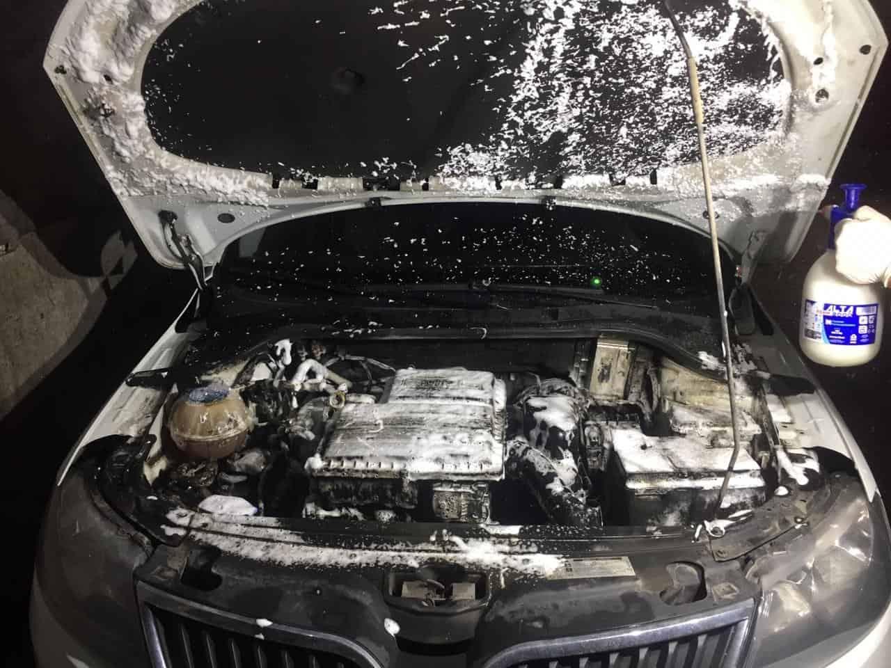 мойка двигателя паром шкода октавия 55