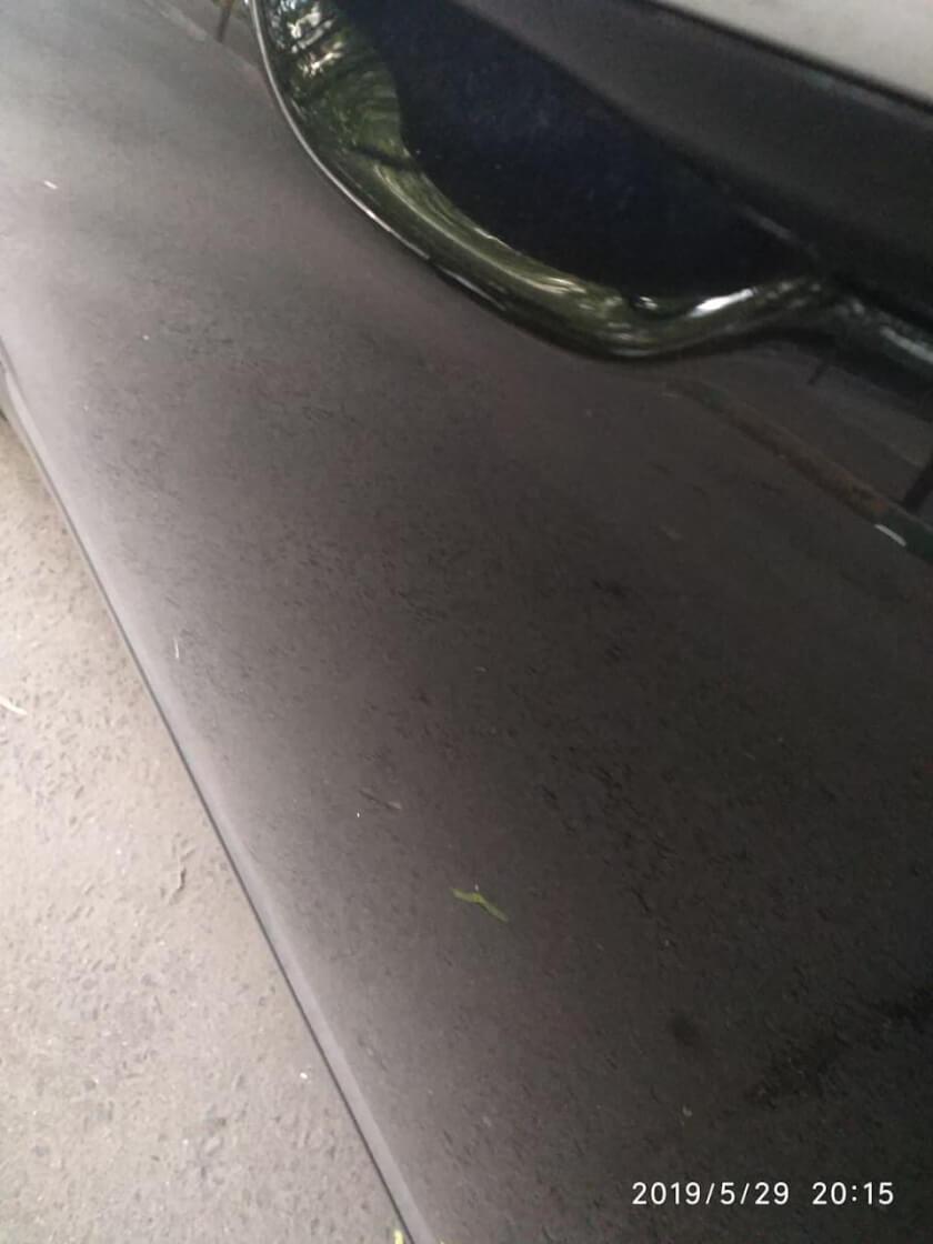 Ремонт вмятины на водительской двери 25